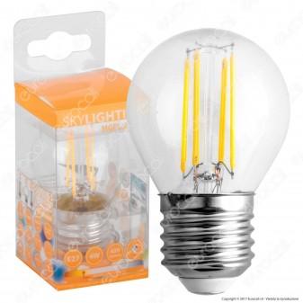 SkyLighting Lampadina LED E27 4W MiniGlobo G45 Filamento