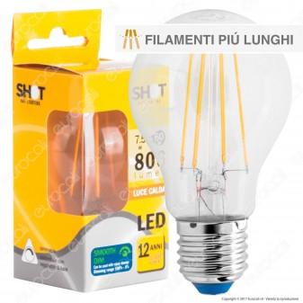 Bot Lighting Shot Lampadina LED E27 7,5W Bulb A60 Filamento Extra-Lungo Dimmerabile