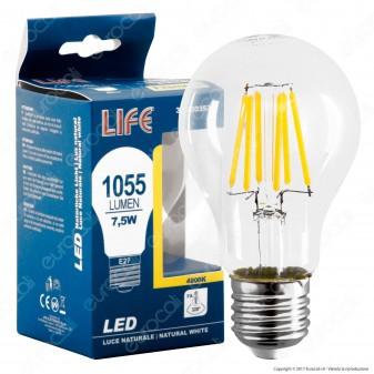 Life Lampadina LED E27 7,5W Bulb A67 Filamento