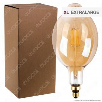 Ideal Lux Lampadina LED Vintage XL E27 6W Bomb Filamento Ambrata