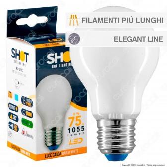 Bot Lighting Lampadina LED E27 8W Bulb A70 Milky Filamento Extra-Lungo - mod. MLD1010X2