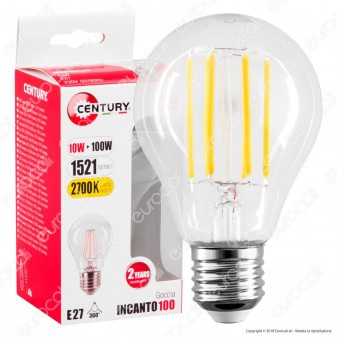 Century Lampadina LED E27 10W Bulb A67 Filamento