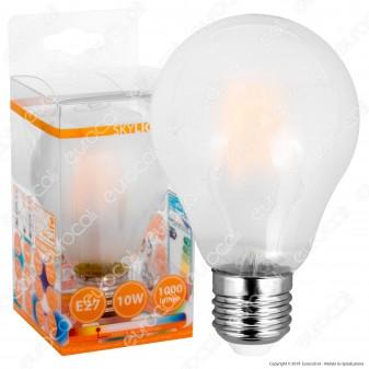 SkyLighting Lampadina LED E27 10W Bulb A67 Frost Filamento Dimmerabile - mod. HPFL-2710SC-DIMM