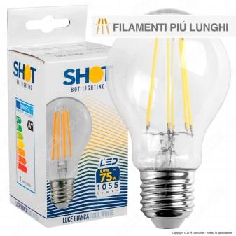 Bot Lighting Shot Lampadina LED E27 8W Bulb A60 Filamento Extra-Lungo - mod. WLD1010X2 / WLD1010X3 / WLD1010X1